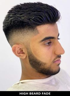 Wow, try this fresh High Beard Fade that's totally trending right now! Learn more about this look and see the rest of the 22 outstanding examples of beard fade haircuts for an incredible style. // Photo Credit: @jazthebutcher on Instagram Latest Hairstyles, Hairstyles Haircuts, Beard Fade, Rugged Look, Beard Styles For Men, Fade Haircut, Photo Credit, Hair Cuts, The Incredibles