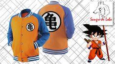 Dragon Ball Kame Hombres chaqueta Colegio del s/ímbolo del logotipo gris negro
