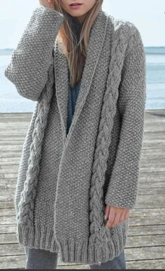 Cardigan Pattern, Sweater Knitting Patterns, Knit Cardigan, Sleeve Pattern, Cardigan Fashion, Knit Fashion, Pakistani Fashion Casual, Knitted Coat, Cardigans For Women