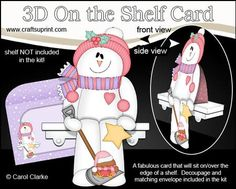 3D On the Shelf Card Kit Christmas Snowman Rio on Craftsuprint - View Now!
