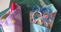 These fabric scissor holders with three pockets are a great way to store your scissors so that they are all in the same place and their tips...