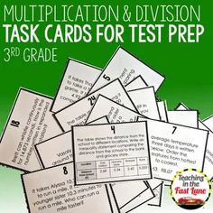 Addition and Subtraction Models Task Cards Instructional Strategies, Teaching Strategies, Teaching Resources, Teaching Tools, Math Lesson Plans, Math Lessons, Comparing Fractions, Equivalent Fractions, Dividing Fractions