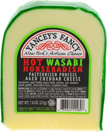 Wasabi Cheddar- This blend of aged cheddar, wasabi and horseradish flavor is sure to be an eye opener.