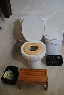 """Approaches to Potty Learning: Montessori and Elimination Communication"""" Looks like our bathroom currently!""""Respectful Approaches to Potty Learning: Montessori and Elimination Communication"""" Looks like our bathroom currently! Montessori Toddler, Montessori Homeschool, Montessori Classroom, Montessori Activities, Infant Activities, Toddler Potty, Maria Montessori, Toddler Toys, Potty Training Tips"""