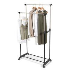 Suport reglabil pentru haine reglabil 78 x 42 x H.85/165 cm Clothes Rail, Low Shelves, Shelf, Hanging Organizer, Clothing Storage, Unisex, Storage Rack, Wardrobe Rack, Best Sellers