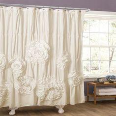Lush Decor Serena Ruffle Trim Shower Curtain | Overstock.com Shopping - The Best Deals on Shower Curtains