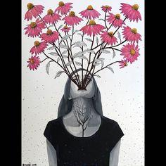 """186 kedvelés, 2 hozzászólás – Horváth Kincső Art (@horvathkincso_art) Instagram-hozzászólása: """"Echinacea (akril, vászon/2019) 🌸 #torokra #immunerősítés #flowers #painting #acrylicpainting…"""" Painting, Flowers, Instagram, Art, Art Background, Painting Art, Kunst, Paintings, Performing Arts"""