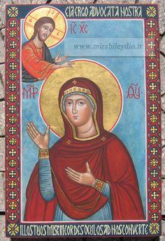 Madre di Dio Advocata .Icona per mano d Cristina Capella