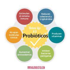 """Los probioticos son las """"buenas bacterias"""" que tienen la función de mantener el colon saludable, consumir más de estas es uno de los mejores apoyos para tu salud."""