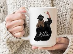 for best friends college Custom graduation mug, personalized graduation gift, college graduation gift for her, class of graduate gift, custom coffee mug Graduation Gifts For Daughter, Unique Graduation Gifts, High School Graduation Gifts, Personalized Graduation Gifts, College Graduation Gifts, College Gifts, My Best Friend's Birthday, Best Friend Gifts, Gifts In A Mug