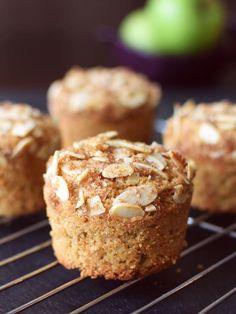 Apple Almond Crunch Muffins Recipe (includes vegan, gluten-free & wheat-based options!)