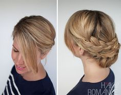 braided updo wedding hairstyle