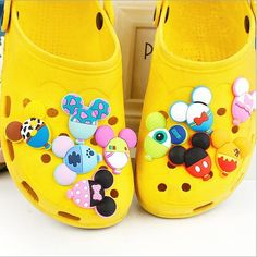 Children's gift Balloon modelling shoe flower cross Cartoon PVC shoe flower Hole hole shoes decorated #Affiliate