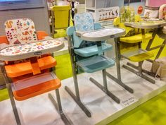 New colors at #kindundjugend2015. Brevi Slex Evo, #cradle #swing #highchair #chair all in one
