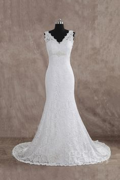 Stylish+Trumpet-Mermaid+V-Neck+Court+Train+Lace+Sleeveless+Wedding+Dress+with+Beading+LWXT1403A