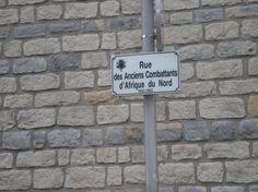 Tout pres du Musée de Dieppe, cette rue des Anciens Combattants d'Afrique du Nord.