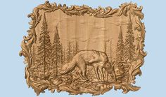 Wolves Wall Decor ~ Wolf Wood Carving ~ Wolf Hunting Wall Hanging ~ Rustic Cabin Decor ~ Framed Wolf Wall Hanging ~ 3D Wood Carving ~ CNC by TheWoodGrainGallery on Etsy