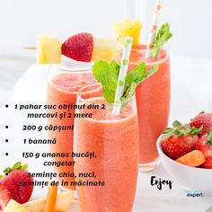 Healthy Green Smoothies, Healthy Drinks, Healthy Recipes, Healthy Food, Power Salad, Chia, Eat Smart, Summer Drinks, Smoothie Recipes