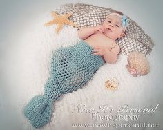 Crochet Mermaid Tail Photo Prop  Newborn to by AdornmentsByDesign, $45.00 ooohh-baby
