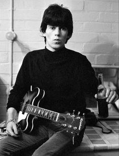 """Keith, circa 1965, with his Epiphone Elitist Casino """