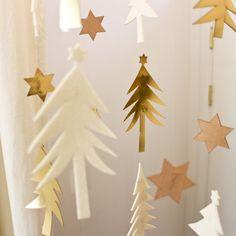 ***クリスマス***フォレストオブ森モビールインテリアガーランドメリークリスマスxmasデコレーションツリーパーティーオーナメント雑貨