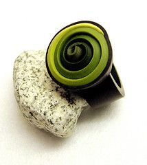 """Greens"" ring By dr. fimo ... The end of a Skinner Blend"