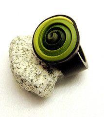 """""""Greens"""" ring By dr. fimo  doorklikken !!! er staan mooie fimoverwerkingen bij"""