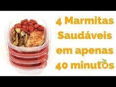 Receita #4 Como Fazer Marmita Saudável (com Lombo) para a Semana em apenas 40 minutos - YouTube