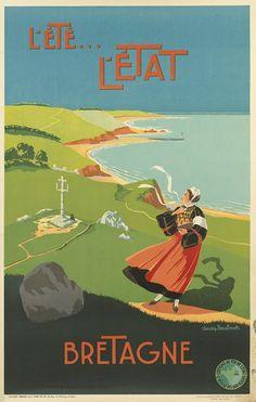 chemins de fer de l'état - L'été - L'état - Bretagne - années 1930 -
