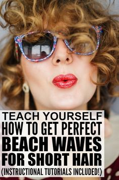 This is a FABULOUS collection of hair tutorials to teach you how to get perfect, sexy beach waves for short hair or shoulder-length hair. I am particularly in love with the first tutorial as I think it is one of the most glamorous short hairstyles I've ever seen, and I'm tempted to cut my locks off every time I watch it! Full tutorials included!