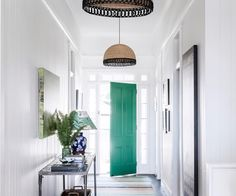 Loving how this traditional Queenslander has been transformed! Just look at the pops of emerald and blue through the house! Make sure to swipe to take a tour 🙌➡️ Via Interior Architect Greg Everding Styling 📷 . Kitchen On A Budget, Home Decor Kitchen, Kitchen Ideas, Queenslander House, Hygge Home, Entry Hall, Entrance, Interior Decorating, Interior Design
