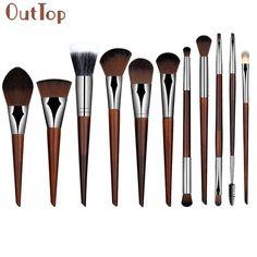 19.42$  Buy now - http://alilk7.shopchina.info/go.php?t=32679246842 - Best Deal Fashion Women 11PCs Pure Handmade Makeup Brushes Powder Concealer Eyebrow Eyeliner Blush Brush brocha de maquillaje 19.42$ #magazineonlinewebsite