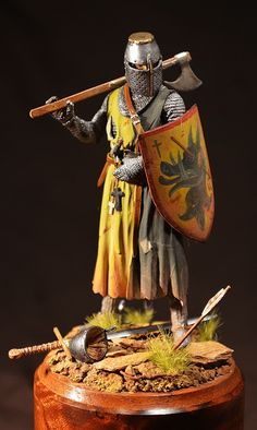 Miniature Knight with battle axe.