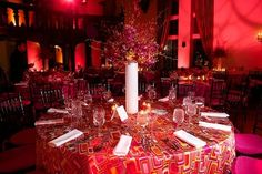 Spectacular #red #uplighting for a truly fab #birthday #party. Photo via #RobertCastagnaPhotography
