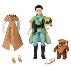 Princess Leia Organa & Wicket the Ewok Action Figure Set - Star Wars: Forces of Destiny