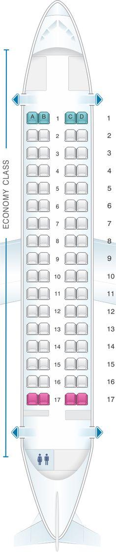 Seat Map Finnair ATR 72-212A Config.1