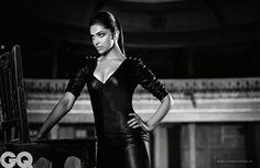 Deepika Padukone, bollywood, le modèle indien, noir et blanc,