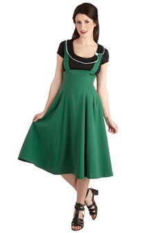 Jukebox DJ Jumper. Armed with plentiful pocket cash and an ear for what gets people movin' and groovin', you're ready to set the pub partying wearing this adorable jumper by Bettie Page. #green #modcloth