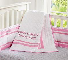 Harper Nursery Bedding Collection #pbkids Baby Gibbs bedding with the chevron sheet!