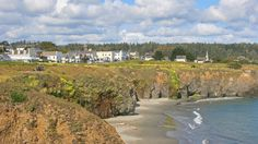 Mendocino, CA. About 3.5 hours north of San Francisco. Went here once while visiting my sister years ago and loved it. Little artsy village on the coast, and if you time it right you can see whales.