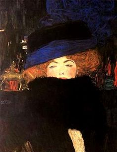'Lady with the Hat and Feather Boa' Gustav Klimt 1909