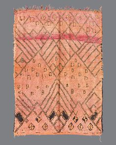 vintage Moroccan rug, Beni M'Guild #BG109