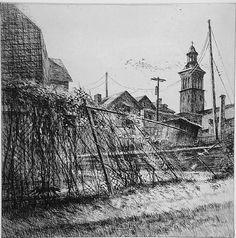 Bill Murphy (black and white etching)