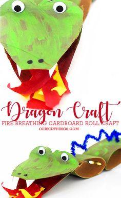 Cardboard Roll Dragon Craft #ChineseNewYear #dragoncraft #dragons #cardboardrollcraft #kidcrafts #kidscraft