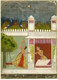 Madhumadhavi Ragini. Rajasthan School, c.1700