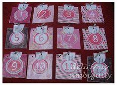 Romantic countdown calendar for couples