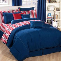 American Denim Comforter XL TwinThe American Denim Bedding collection offers endless decorating possibilities with comforters, duvets, shams, bedskirts, and accent pillows all sold separately. This comfortable bedding ensemble is made of 10 oz Denim Comforter, Twin Xl Comforter, Comforter Cover, Duvet Cover Sizes, Bedding Sets, Duvet Covers, King Duvet, Do It Yourself Jeans, Teen Boy Bedding