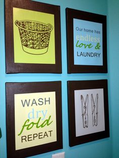 Laundry Room Decor Prints DIY