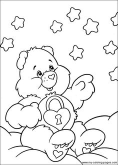 303 Best Care Bears Images Care Bears Coloring Pages Printable