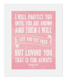 Another great find on #zulily! 'Fly Free' Print by BirdRow #zulilyfinds